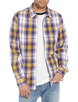 Zip Front Flannel Shirt Jacket by The Rail