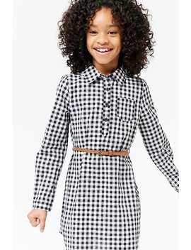 Girls Gingham Shirt Dress (Kids) by Forever 21