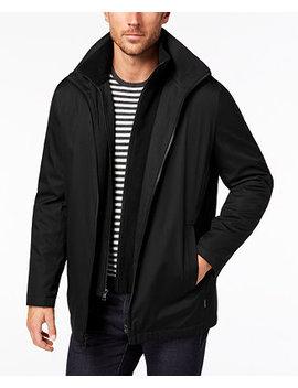 Men's Ripstop Full Zip Jacket With Fleece Bib by Calvin Klein