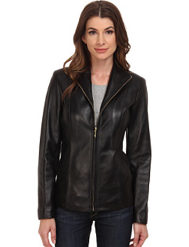 Wing Collar Leather Jacket by Cole Haan