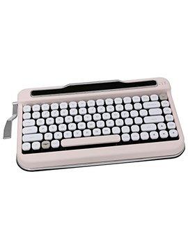 Penna Bluetooth Keyboard With White Diamond Shape Keycap(Us Language) (Switch Cherry Mx Blue, Baby Pink) by Elretron