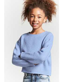 Girls Rolled Edge Sweater (Kids) by Forever 21