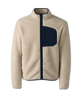 Men's Sherpa Fleece Jacket by Lands' End