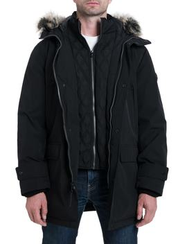 Lagrange Parka With Faux Fur Trim by Michael Kors