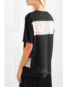 Oversized Printed Cotton Jersey T Shirt by Marc Jacobs