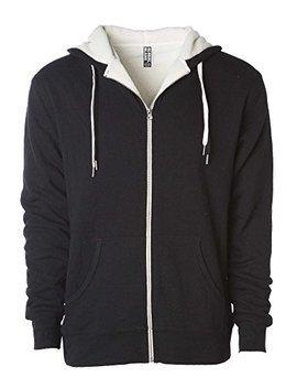 Global Heavyweight Sherpa Lined Zip Up Fleece Hoodie Jacket For Men And Women by Global Blank