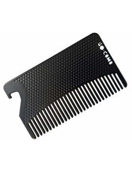 Go Comb   Metal Mens Wallet Size Comb + Bottle Opener   Hair And Beard Slim Pocket Comb   Credit Card Comb   Matte Black by Go Comb