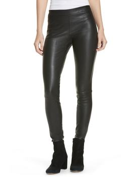 Leather Zip Leggings by Vince