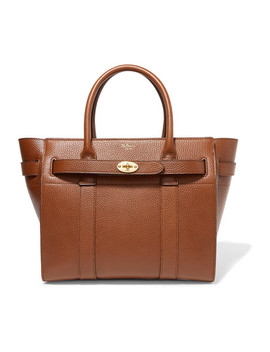 The Bayswater Small Textured Leather Shoulder Tote by Mulberry
