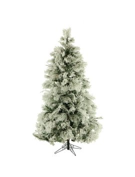Fraser Hill Farm 9 Ft. Flocked Snowy Pine Artificial Christmas Tree by Fraser Hill Farm