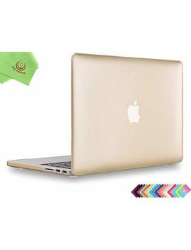 Ueswill Plastic Hard Shell Case For Mac Book Pro (Retina, 15 Inch, Mid 2012/2013/2014/Mid 2015), Model A1398, No Cd Rom, No Touch Bar + Microfibre Cleaning Cloth, Gold by Ueswill