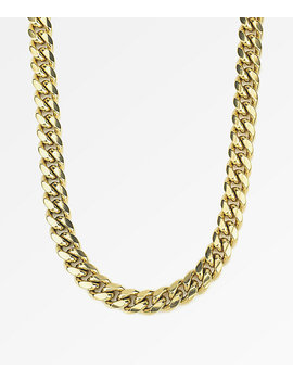 """The Gold Gods 10mm Miami Cuban 24"""" Gold Chain Necklace by The Gold Gods"""