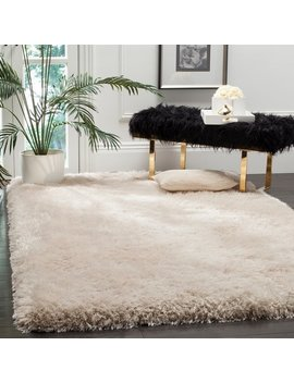 Safavieh Handmade Luxe Shag Super Plush Bone Rug by Safavieh