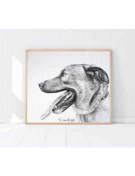Custom Portrait From Photo, Pet Portrait Drawing, Pet Portrait Custom, Dog Portrait Custom, Pet Portrait, Dog Painting Custom, Dog Memorial by Etsy