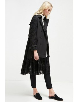 Beata Cotton Lace Trench Coat by French Connection