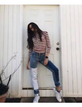 Nwot Rare Sold Out Brandy Melville Kenzo Patched Denim Mom Jeans Size S by Brandy Melville