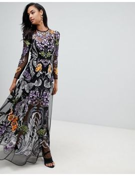 Asos Edition Nouveau Embroidered Maxi Dress by Asos Edition