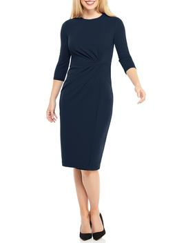 Knot Detail Sheath Dress by Maggy London