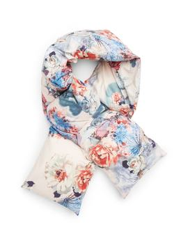 Floral Print Quilted Puffer Scarf by Leith