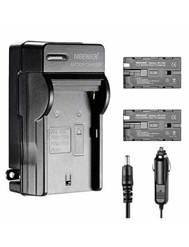 Neewer 2600m Ah Li Ion Battery And Charger Kit For Neewer Cn 160,Cn 216,Cn 126 Cn 304 Led Light And Sony Handy Cams,Nanguang, Polaroid Lights Using Np F550/F570/F530 Batteries by Neewer
