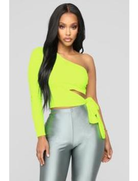 Holding It Down Top   Neon Yellow by Fashion Nova