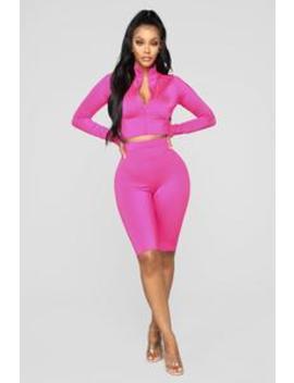 Chicago Ii Short Set   Hot Pink by Fashion Nova