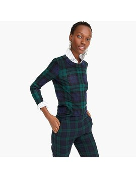 Tippi Sweater In Blackwatch Plaid by J.Crew