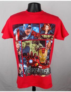 Avengers Marvel Comics Shirt Men's Small Red Graphic Shirt Iron Man St140 by Marvel Comics