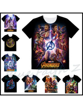 2018 Avengers Infinity War Movie Poster T Shirt Thanos Men's Tee Size:S   2 Xl by Zz China