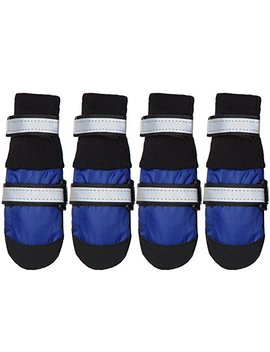 Hi Paw Winter Snow Dog Boots Warm Lining Water Resisitant Paw Protector For Medium Large Dog by Hi Paw