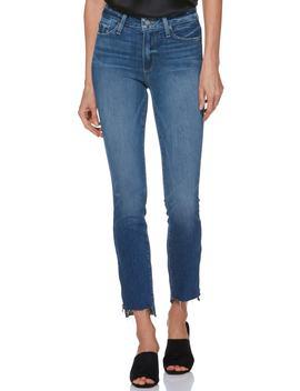 Transcend Vintage   Hoxton High Waist Ankle Straight Leg Jeans by Paige