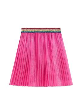 Pleated Iridescent Organza Skirt by Gucci