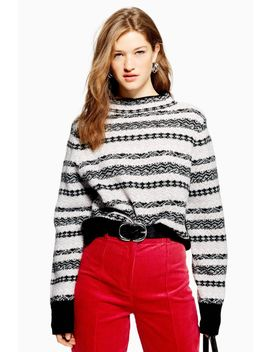 Petite Fair Isle Cropped Jumper by Topshop