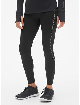 G Fast Winterbrush High Rise Reflective Stripe Leggings by Gap
