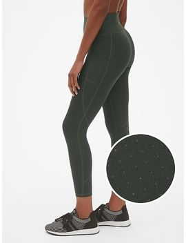 G Fast High Rise Perforated Pocket 7/8 Leggings In Sculpt Revolution by Gap