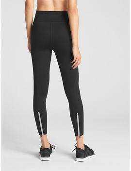 G Fast 7/8 Reflective Ankle Zip Leggings by Gap