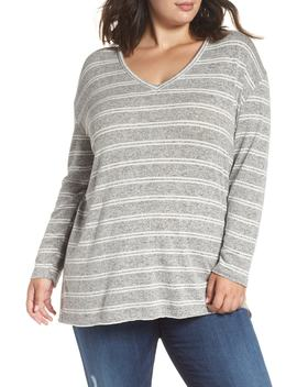 V Neck Stripe Top by Bp.