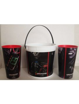 Ghostbusters 2016 Movie Theater Exclusive 170 Oz Popcorn Tub And 44 Oz Cups Set by Ebay Seller