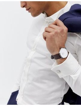 Boss Signet Leather Watch & Cufflink Gift Set by Boss