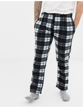 Brave Soul Check Fleece Pants by Lounge Bottoms