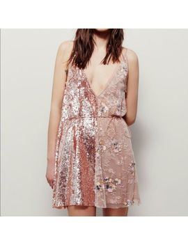 Free People Brightest Sheer Diamond Wrap Slip Dress ☮ Size X Small by Free People