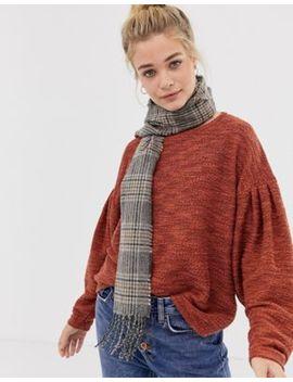New Look – Heritage Rutig Minkscarf by Asos