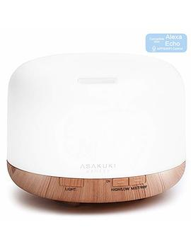 Asakuki Smart Wi Fi Essential Oil Diffuser  App Control Compatible With Alexa, 2018 Upgrade Design 500ml Aromatherapy Humidifier For Relaxing... by Asakuki