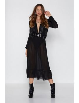 You'll Find A Sway Fringe Dress by Nasty Gal