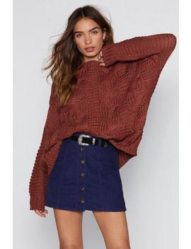 Caught Up Knit Sweater by Nasty Gal