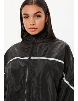 Black Zip Reflective Trim Jacket by Missguided