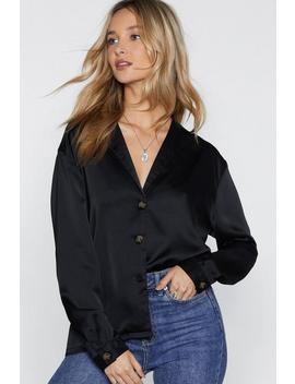 Touch Me When We're Dancing Satin Shirt by Nasty Gal
