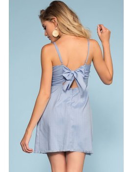 Avalon Perfect Tie Back Dress   Blue by Priceless