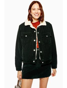 Forest Cord Borg Lined Jacket by Topshop