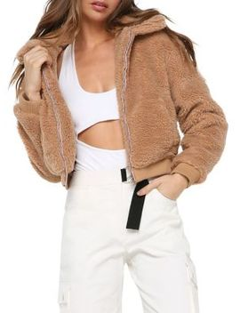 Oversized Fit Faux Fur Teddy Jacket by Tiger Mist